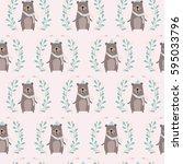 bear pattern   Shutterstock .eps vector #595033796