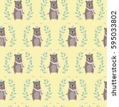 bear pattern   Shutterstock .eps vector #595033802