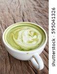 green tea and milk   Shutterstock . vector #595041326