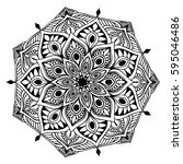 mandalas for coloring book.... | Shutterstock .eps vector #595046486