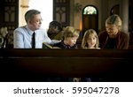 church people believe faith... | Shutterstock . vector #595047278