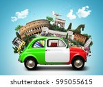 italy  attractions italy and... | Shutterstock . vector #595055615