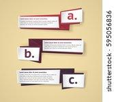 vector infographic origami... | Shutterstock .eps vector #595056836