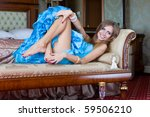 Beautiful Woman Relaxing On A...