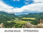 A view of the San Juan National Forest from US Highway 160 north of Pagosa Springs, Colorado.