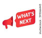 what's next. megaphone icon....   Shutterstock .eps vector #595066445