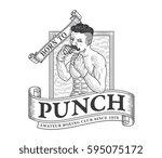 vector illustration of boxer... | Shutterstock .eps vector #595075172