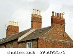 Old Clay Chimney Pots And Bric...