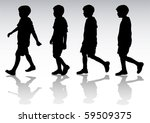 vector drawing boy in motion.... | Shutterstock .eps vector #59509375