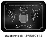 barrel  and the inscription ... | Shutterstock . vector #595097648