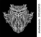 hand drawn ornate spiritual... | Shutterstock .eps vector #595102955