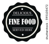 delicious fine food served here ... | Shutterstock .eps vector #595105472