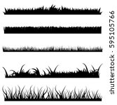 Vector Set Of Black Grass...