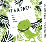 invitation to a party of... | Shutterstock .eps vector #595113572