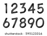 number collection isometric... | Shutterstock .eps vector #595123316
