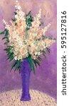 joyful elegant still life card. ...   Shutterstock . vector #595127816