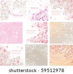 vintage floral cards | Shutterstock .eps vector #59512978