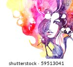 creative hand painted fashion... | Shutterstock . vector #59513041