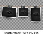 paper horizontal  vertical and... | Shutterstock .eps vector #595147145