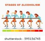 vector cartoon illustration of... | Shutterstock .eps vector #595156745