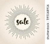 vintage sale poster. grunge...   Shutterstock . vector #595168916