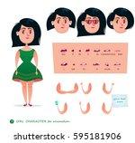 girl character for your scenes... | Shutterstock .eps vector #595181906