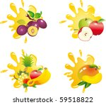 juice splash vector | Shutterstock .eps vector #59518822
