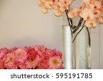 pink orchids  | Shutterstock . vector #595191785