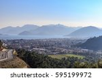 marmaris aerial cityscape with... | Shutterstock . vector #595199972