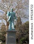 Small photo of Monument Nikolai Krasnov - academician of architecture, chief architect of the city of Yalta, author of the project of the Livadia Palace. Yalta, Crimea, February 15, 2017.