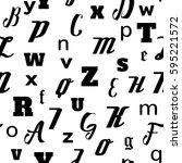 alphabet seamless pattern... | Shutterstock .eps vector #595221572
