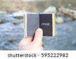 explore exploring experience...   Shutterstock . vector #595222982