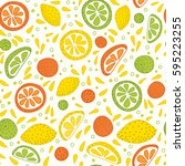 vector seamless pattern with... | Shutterstock .eps vector #595223255