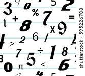 number seamless pattern... | Shutterstock .eps vector #595226708