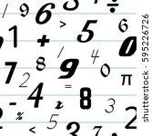 number seamless pattern... | Shutterstock .eps vector #595226726
