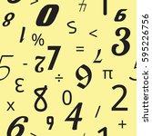 number seamless pattern... | Shutterstock .eps vector #595226756
