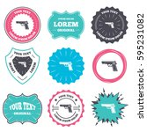 label and badge templates. gun... | Shutterstock . vector #595231082