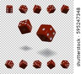 dice gambling template. red... | Shutterstock .eps vector #595247348