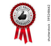 silver best price badge  ... | Shutterstock .eps vector #595248662