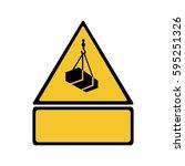overhead load sign vector... | Shutterstock .eps vector #595251326