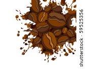 vector coffee grunge background | Shutterstock .eps vector #59525356