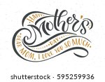 happy mother's day text as... | Shutterstock .eps vector #595259936