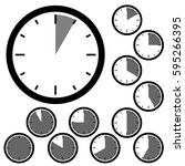 Set Of Simple Clocks Showing...