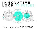 trendy innovation systems... | Shutterstock .eps vector #595267265