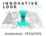 trendy innovation systems... | Shutterstock .eps vector #595267292