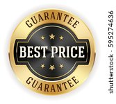black best price button   badge ... | Shutterstock .eps vector #595274636