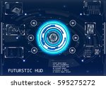 radar screen. vector... | Shutterstock .eps vector #595275272