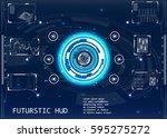 radar screen. vector... | Shutterstock .eps vector #595275272