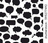 seamless pattern of bubbles... | Shutterstock .eps vector #595277492