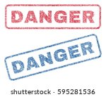 danger text textile seal stamp...